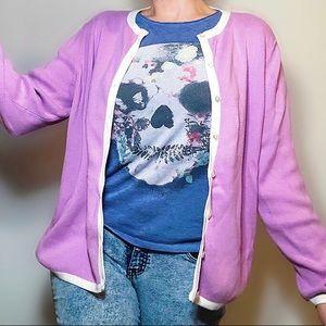 Vintage Designers Originals lilac mauve cardigan